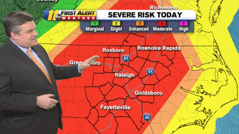 Strong winds and isolated tornadoes predicted for NC. Here's what to expect and when
