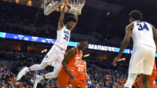 Duke's Marvin Bagley III makes a monster slam in victory over Syrcause