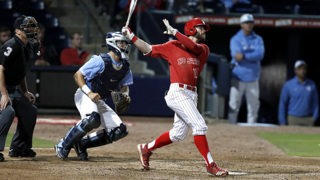 NC State's Evan Edwards blasts a three-run home run in victory over UNC