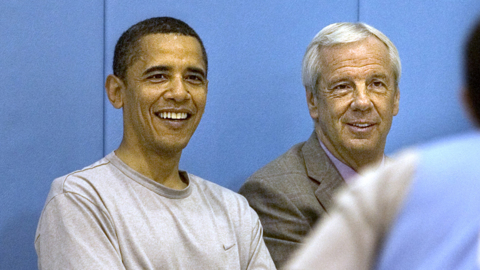 UNC's Roy Williams reacts to rumor that former President Obama might attend Duke-Carolina game
