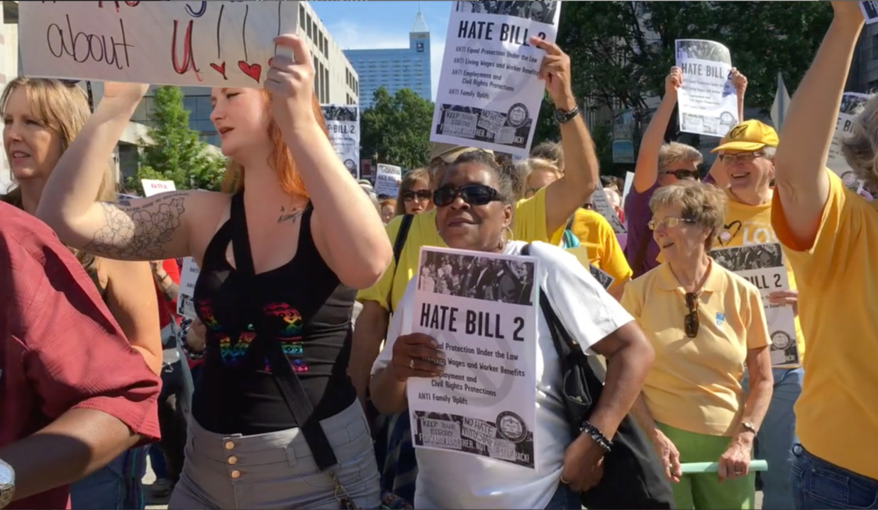 'The singing and chanting were so loud,' witness says in Moral Monday trial