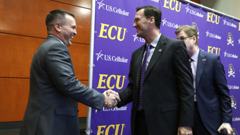 New ECU football coach Mike Houston: 'We are not coming together to just be average'