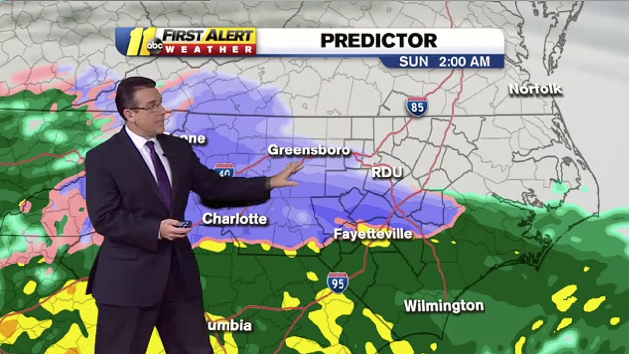 Charlotte latest forecast: Snow, sleet, ice, freezing rain