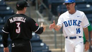 Duke coach Chris Pollard talks about Mitch Stallings' struggles on the mound