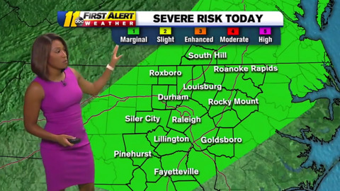 Strong wind, hail possible for central NC on Thursday. Here's when to expect storms