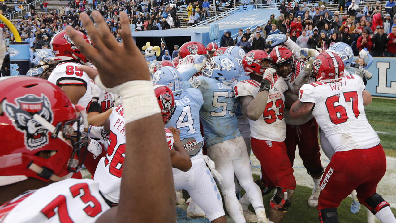 Nc State Football Unc Fight Suspensions Raleigh News Observer