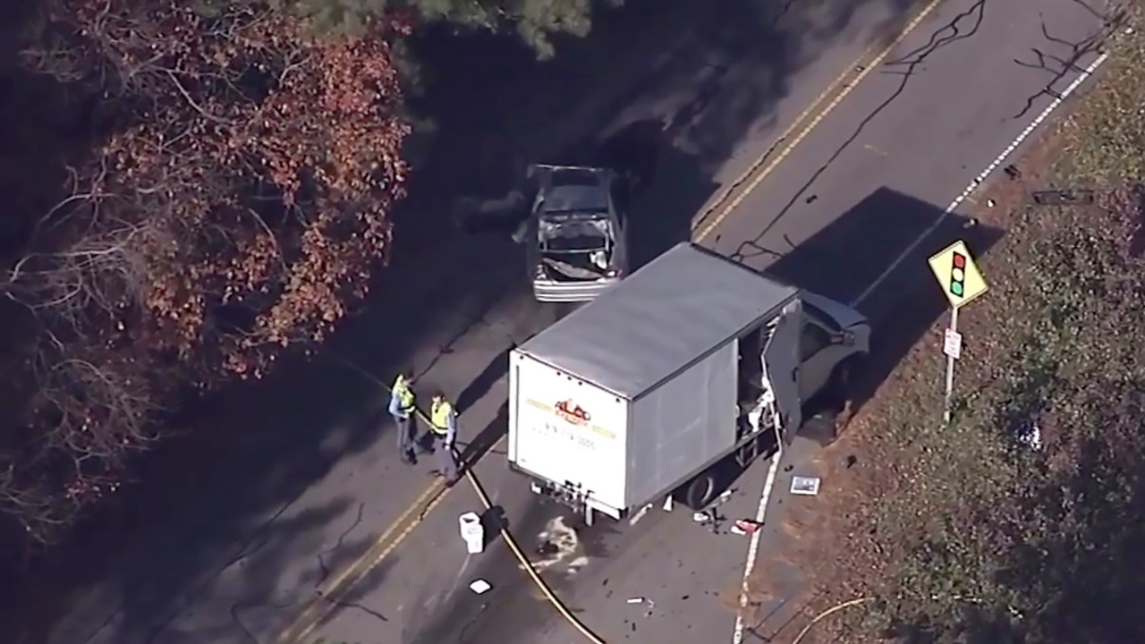Fatal collision between truck and car shuts down Lead Mine Road in North Raleigh