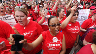 Thousands of educators march in Raleigh and demand respect