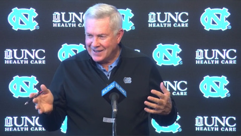 UNC's Mack Brown talks about the challenges of playing on Thursday night