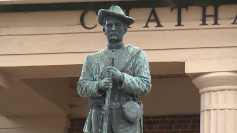 Confederate monument in Pittsboro draws hundreds to demonstrate support, opposition