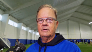 Duke's Cutcliffe on Sirk working out as a tight end for NFL scouts