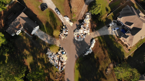 Waste from Hurricane Florence continues to overwhelm landfills