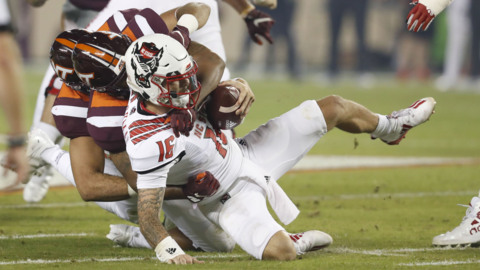 NC State battles Virginia Tech in ACC football action