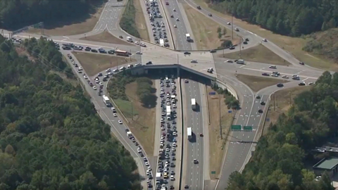 Driver thrown from SUV in I-40 accident that shut eastbound lanes near Durham mall