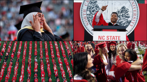 Scenes from NC State's graduation