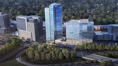 Construction of Raleigh's tallest residential tower begins at North Hills