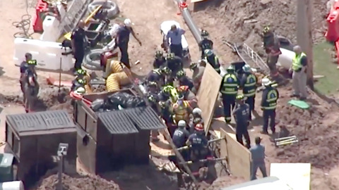 Worker rescued after trench collapse near NCCU football stadium in Durham