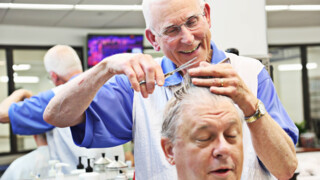 David Fowler has cut hair at Duke Barbershop for over 50 years