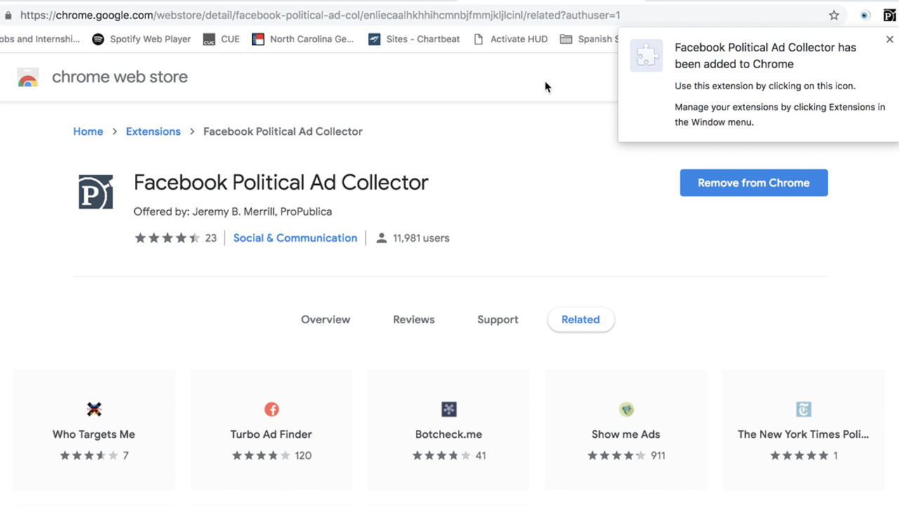How to download ProPublica's tool to track Facebook