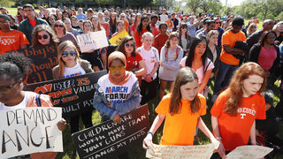 Students rally for gun control on anniversary of Columbine High School massacre