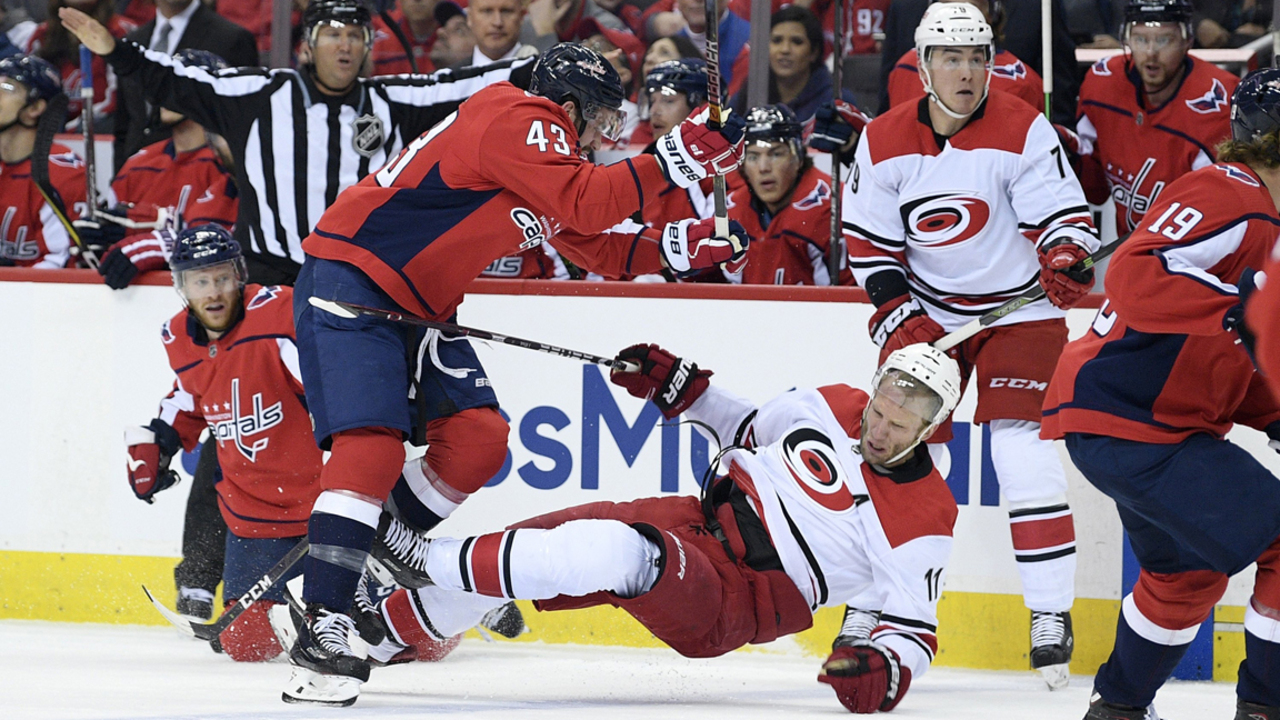 26655b8f8d6 Caps hold off Canes in Game 1 of NHL Stanley Cup playoffs | Raleigh News &  Observer