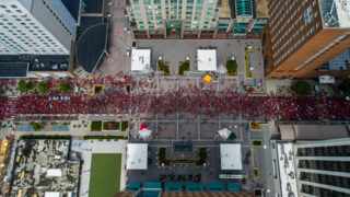 Drone Video: NC teachers march in Raleigh
