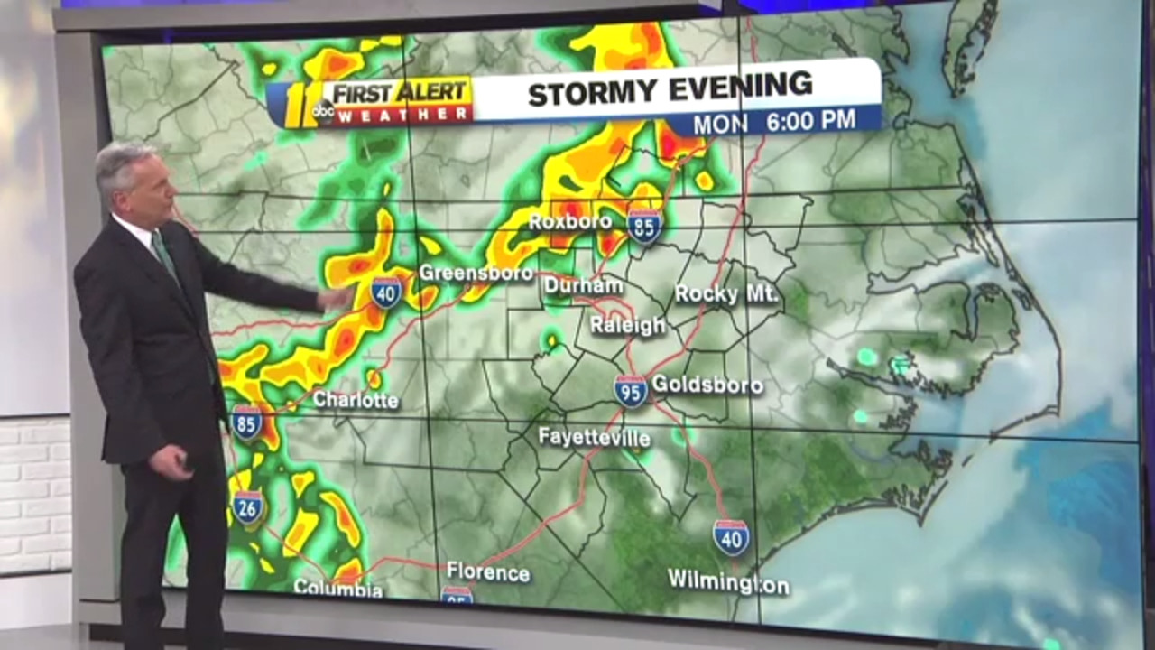 Weather forecast: Carolinas could see severe storms Monday
