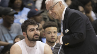 UNC's Roy Williams talks about recruiting Luke Maye as a walk-on