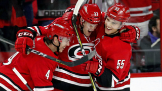 Hurricanes' Foegele: first NHL game, first NHL goal, first star of the game