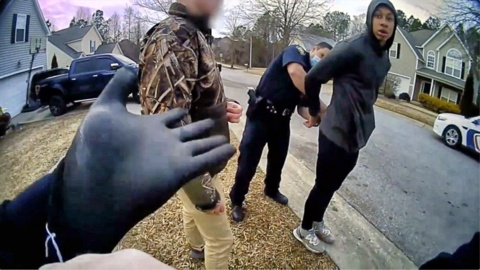 Fuquay police release bodycam video of 14-year-old handcuffed in front yard