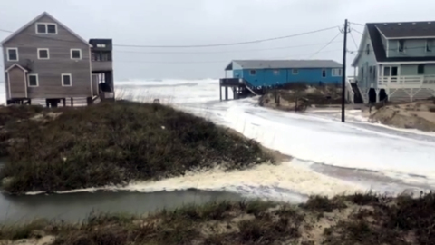 Outer Banks roads flooded with storm surge as nor'easter batters NC coast