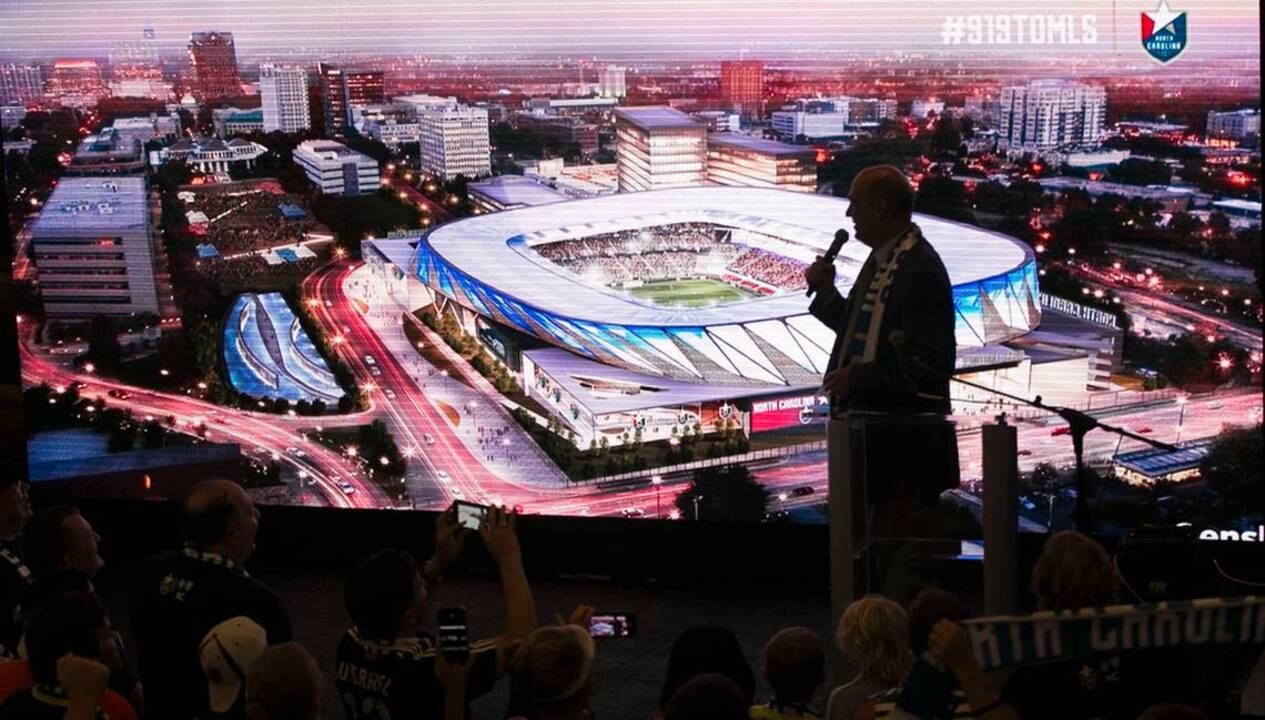 North carolina fc 39 s downtown raleigh stadium plans may 10 - Downtown at the gardens movie times ...