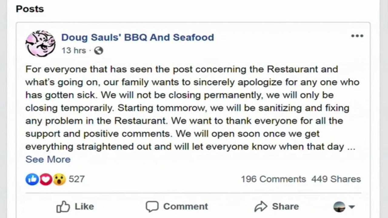 Salmonella outbreak closes restaurant, but owner still caters wedding, NC official says