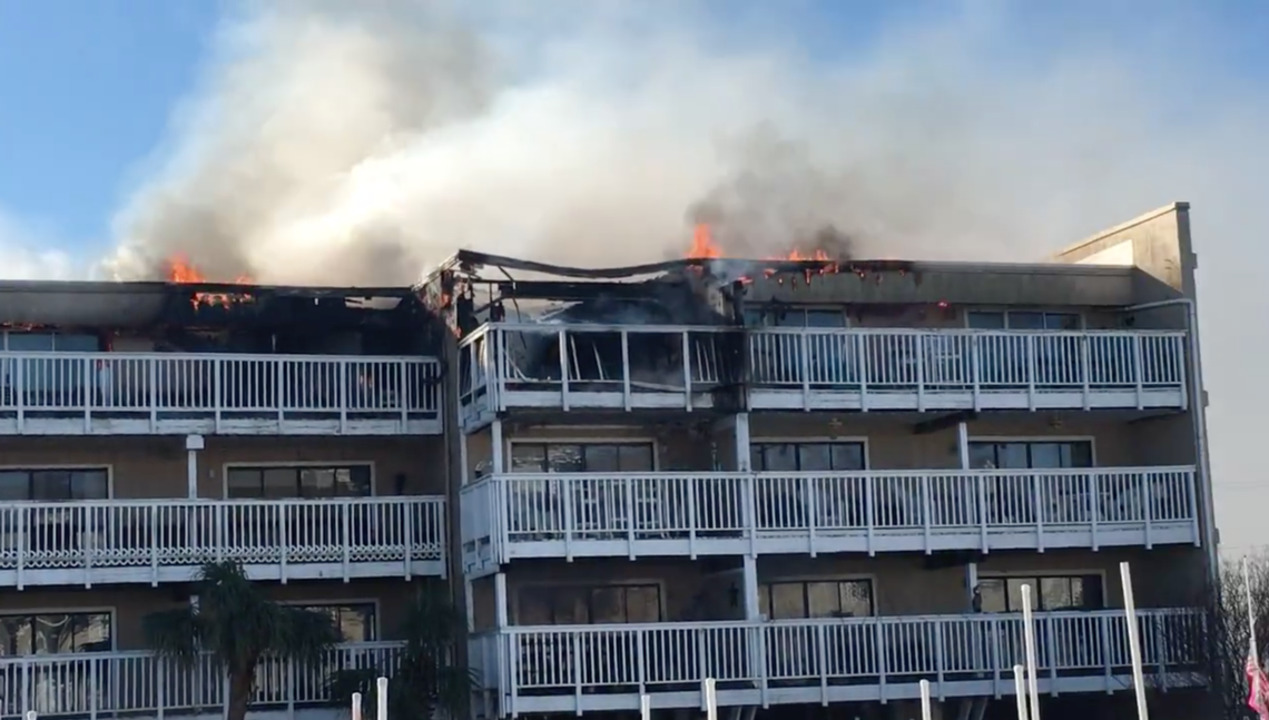 Carolina Beach Condo Fire