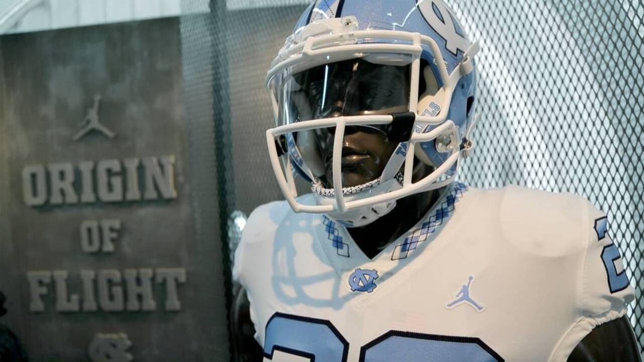 f35768e5ddeb UNC football's new uniforms are Michael Jordan's brand, feature basketball  jumpman | Raleigh News & Observer