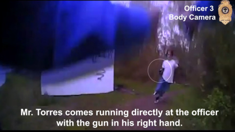 Raleigh police bodycam video from shooting of Javier Torres