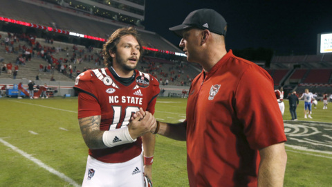 NC State's Doeren on Devin Leary's recovery and Bailey Hockman getting the start