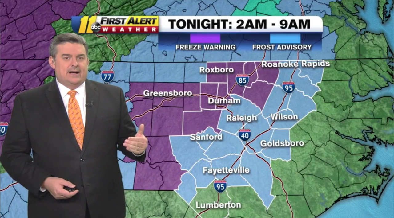 Break out the winter coats: Triangle could see first freeze of the season