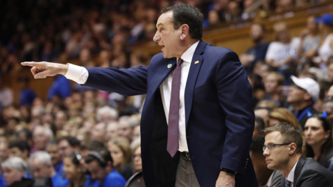 Slip of the tongue: Coach K appears to violate NCAA rule