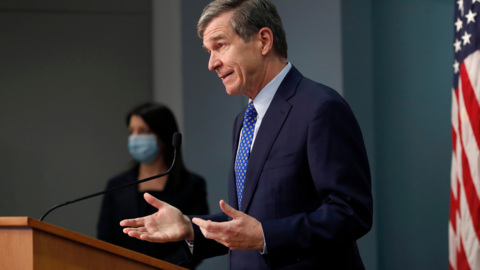NC Gov. Cooper on SB 37 and mandating all school districts offer in-person learning