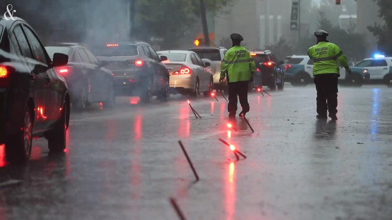 Flooding closes Capital Boulevard in downtown Raleigh as