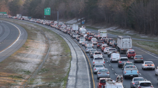 Icy patches cause Triangle traffic troubles