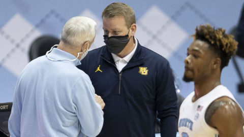 Marquette's Steve Wojciechowski on the victory over UNC