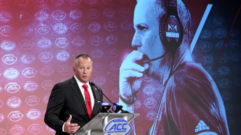 NC State coach Dave Doeren talks about the competition for quarterback