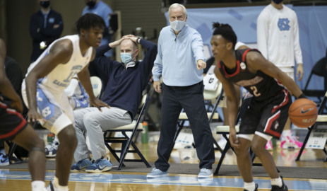 UNC battles Northeastern in first home game in a month