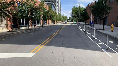 Raleigh's first separated bike lanes are coming to downtown