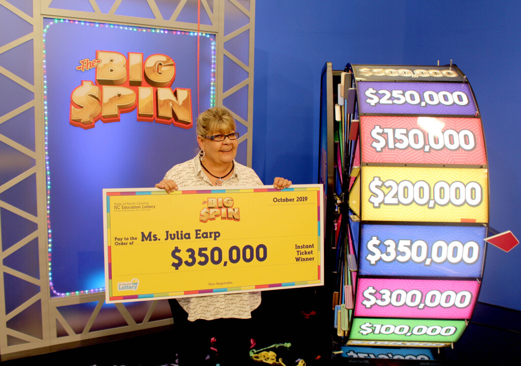 Grandma planning to 'fall on my heinie' spinning prize wheel wins big in NC lottery
