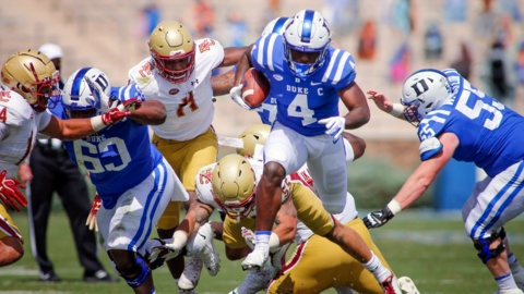 Duke faces Boston College in ACC football action