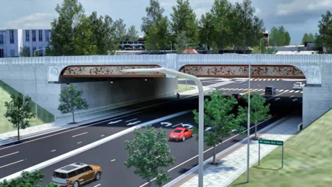 Capital Boulevard reconstruction complete, except for the artwork on the bridges