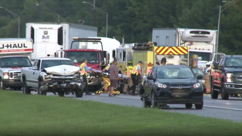 Crashes involving up to 50 vehicles close Interstate 40/85 in both directions